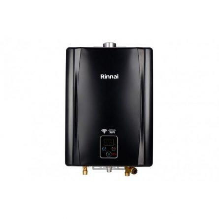 Aquecedor de Passagem Digital Rinnai GN 21 Litros - E21 (Black)