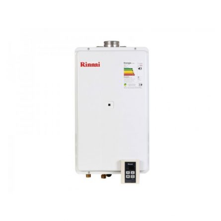 Aquecedor de Passagem Digital Rinnai GN 35 Litros - 2802FEC (Branco)